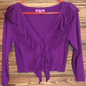 Betsey Johnson crop sweater, L